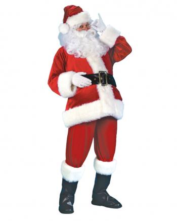 Weihnachtsmann Kostüm Samt XXL