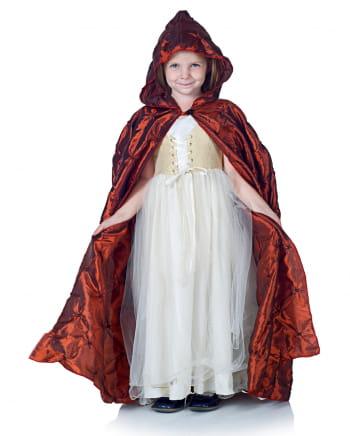 Hooded cape for children burgundy