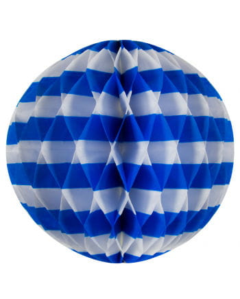 Honeycomb Ball white / blue 30 cm