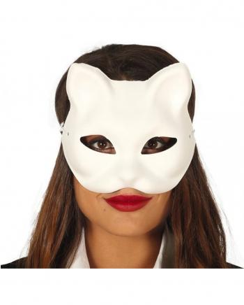Weiße Katzen Halbmaske