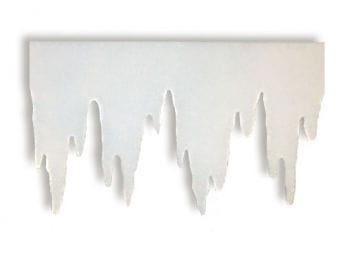 Eiszapfen aus Schneewatte