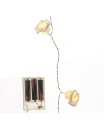 Roses light chain with white LEDs