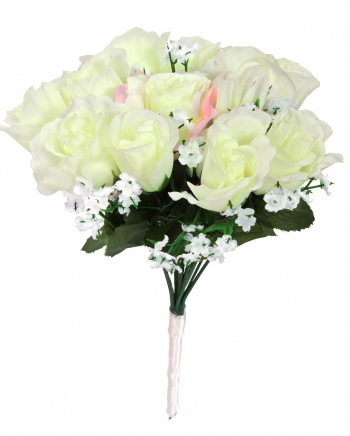 White Bridal Bouquet Costume Accessories