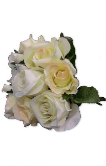 Weißes Rosen Bouquet