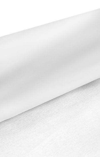 Niflamo decorative crepe white 50 m