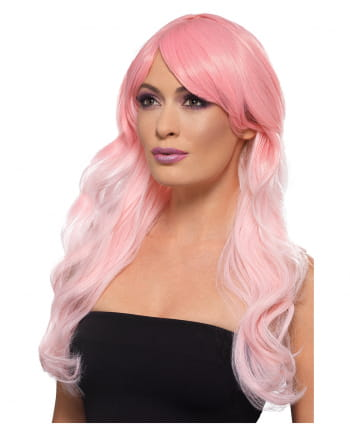 Wavy Ombre Longhair Wig Pink