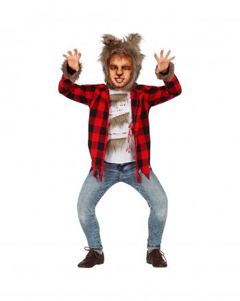 Wildes Werwolf Kinderkostüm mit Mütze
