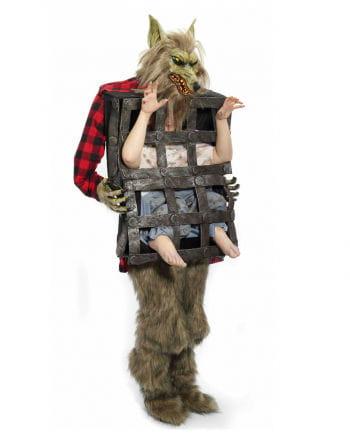 Werwolf Verkleidung mit Käfig