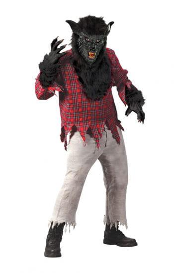Wolfsmann Kostüm schwarz