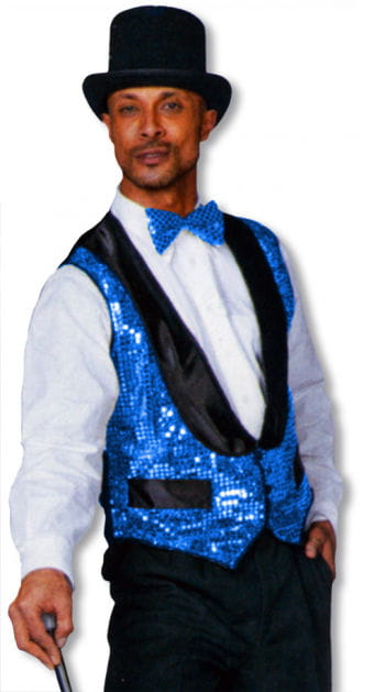 Sequin vest blue