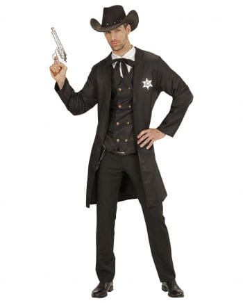 Western Sheriff Costume 4 Pieces