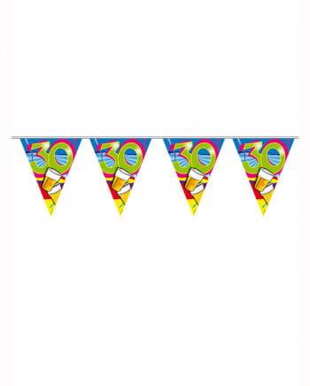 Geburtstagsgirlande Swirls 30 Jahre