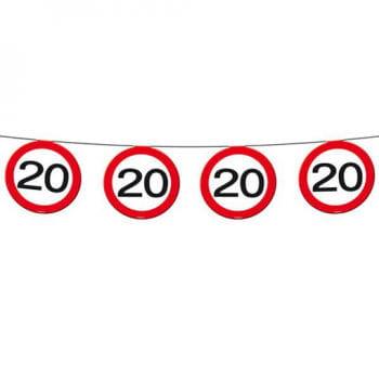 Warnschild 20 Wimpelkette