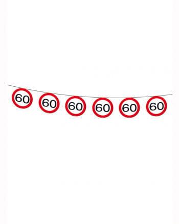 Geburtstagsgirlande Verkehrsschild 60