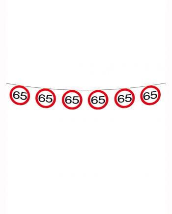 Wimpelkette traffic sign 65