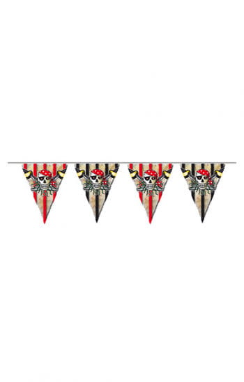 Red Pirate Pennant Banner