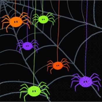 Witzige Spinnen Servietten