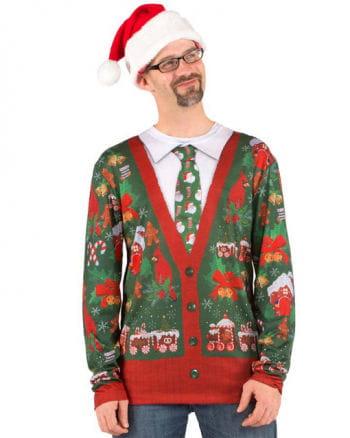 Longsleeve mit Weihnachtsmotiv