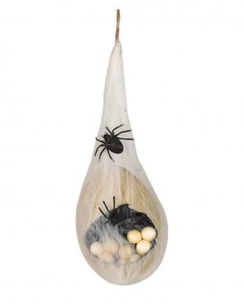 Halloween Spinnen Nest mit Eiern & Licht