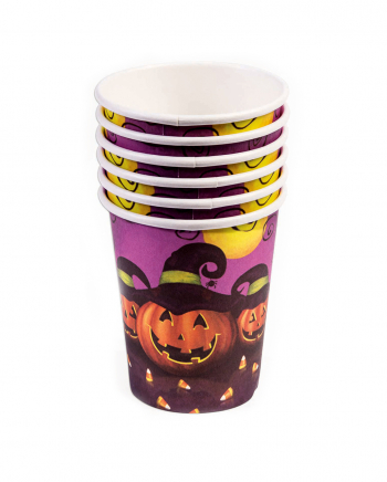 Halloween Drinking Cup Pumpkin & Magic Hat 8 Pcs.