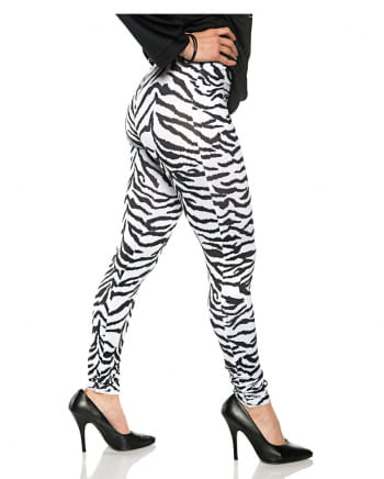 Zebra Costume Leggings White