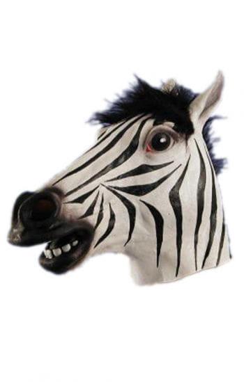 Zebra Maske aus Latex