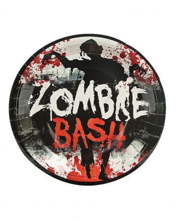 8 große Zombie Bash Pappteller