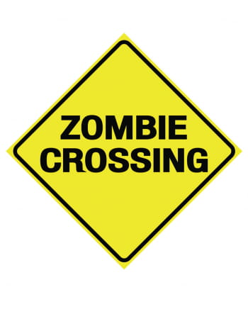 Zombie Crossing Warning Sign 28 Cm