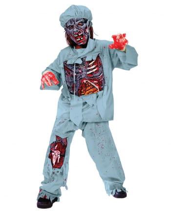 Zombie Doktor Deluxe Kinderkostüm M