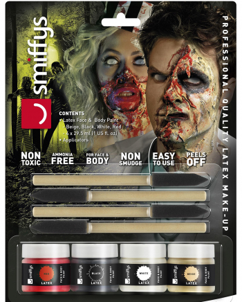 Zombie Liquid Latex / 4-er Set