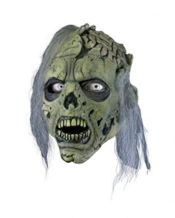 Zombie mit offenem Schädel Maske