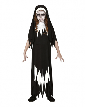 Zombie Nun Children Costume Dress