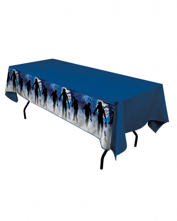 Zombie Party Tischdecke Blau