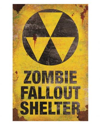 Metallschild Zombie Fallout Shelter