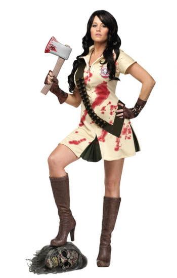 Zombie Jägerin Damenkostüm