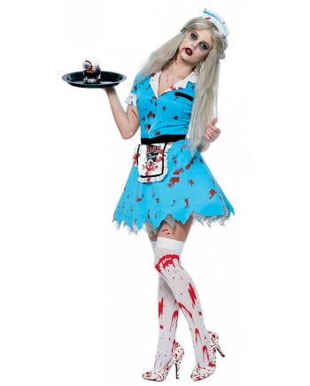 Zombie Serviermädchen Kostüm