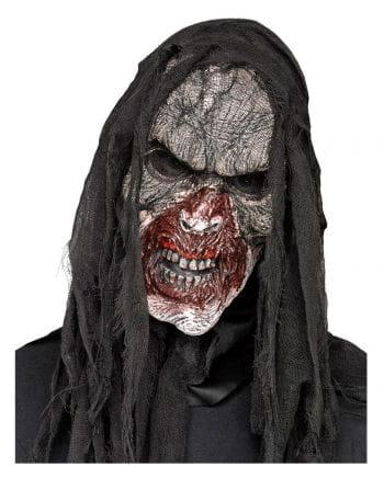 Verbranntes Zombiegesicht Halbmaske
