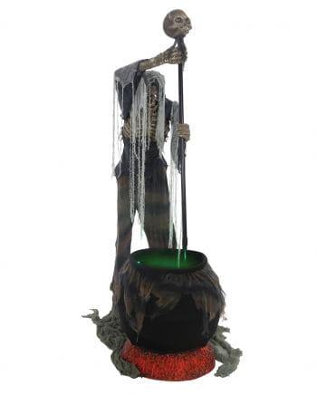 Zombie Skeleton With Cauldron Animatronic