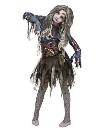 3D Zombie Mädchenkostüm