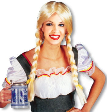 Zopfperücke Heidi blond