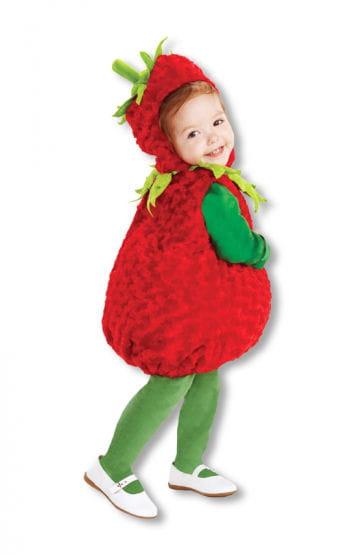 Zuckersüßes Erdbeeren Babykostüm