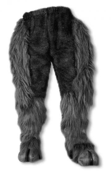 Monster Fur Pants Black