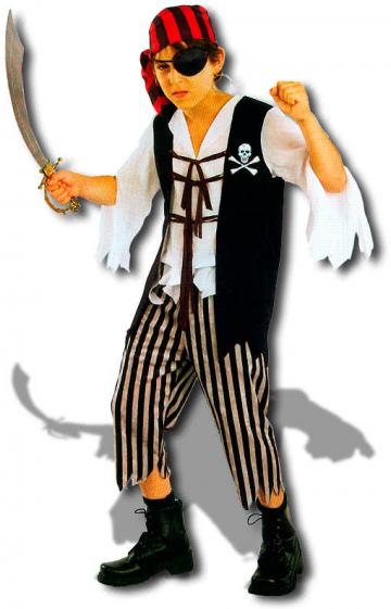 Piraten Kapitän Skully Kinderkostüm M