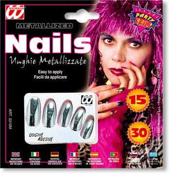 Metallic Fingernails Gold
