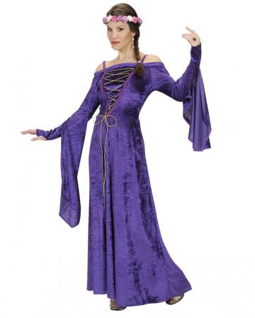 Medieval Damsel Costume Purple M