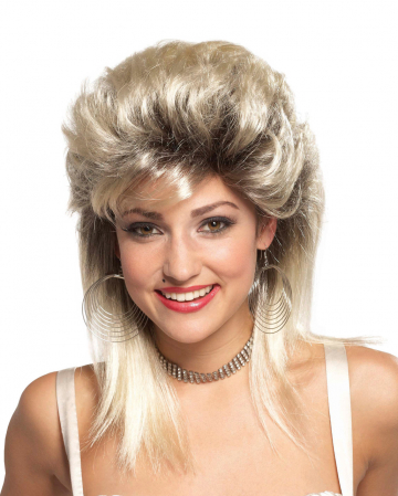 80's Rocker Bride Wig Blond