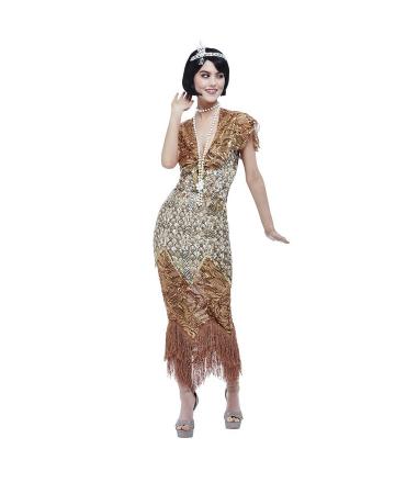 20's Gatsby Sequin Dress Gold