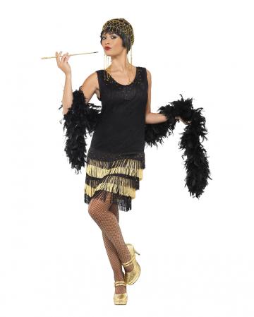 20er Jahre Flapper Kostüm mit Fransen