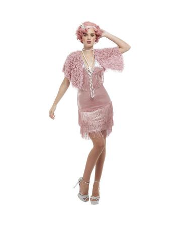 20`s Pink Flapper Charleston Costume