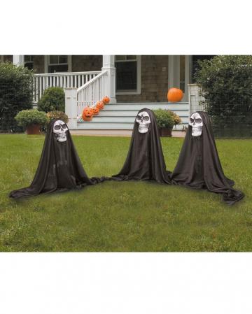 3 Small Skull Ghosts Garden Decoration